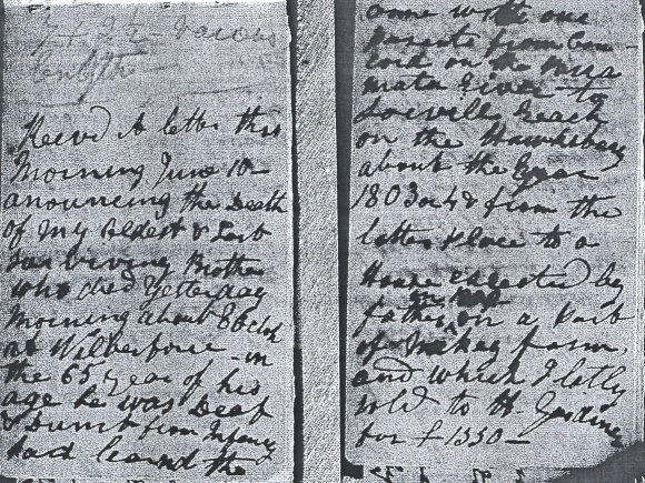 A photocopied pages - the mention of Robert's death and who he was.
