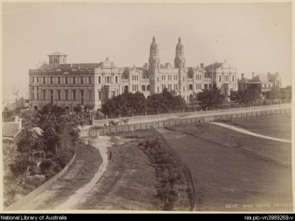 Bayliss, Charles, 1850-1897. Deaf and Dumb Asylum [picture].